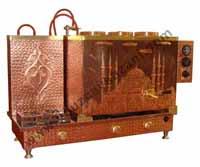 Camii Desenli Bakır Çay Kazanı